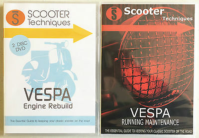 Vespa Running Maintenance & Engine Rebuild DVDs