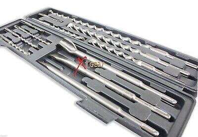 12pc Sds Plus Type Hammer Drill Bits Chisel Carbide Bits Set Concrete Masonry
