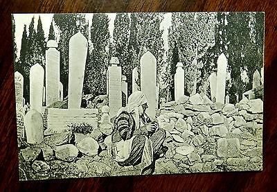 Turkish Cemetery Smyrna Smryne Izmir Turkey Postcard Ca 1908