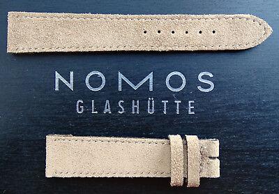 Nomos Glashütte Lederband Beige 18/16 mm Handmade in Germany NOS Ungetragen