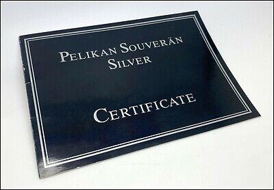 Pelikan Souveran Silver Certificate, New, Germany (#AR2299)