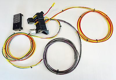US Made 10 CIRCUIT 8 FUSE UNIVERSAL WIRING HARNESS RACE RAT ROD GXL WIRE