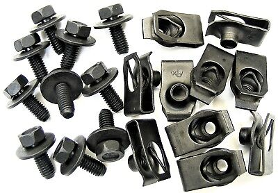 Honda Body Bolts & U-nut Clips- M6-1.0mm x 16mm Long- 10mm Hex- 20 pcs- #379