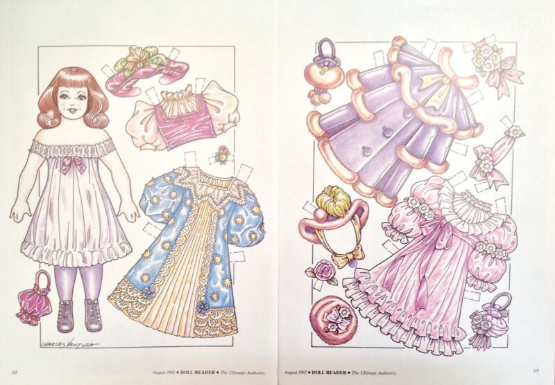 Victorian Doll Paper Doll, 1992 Doll Reader Mag. by Charles Ventura