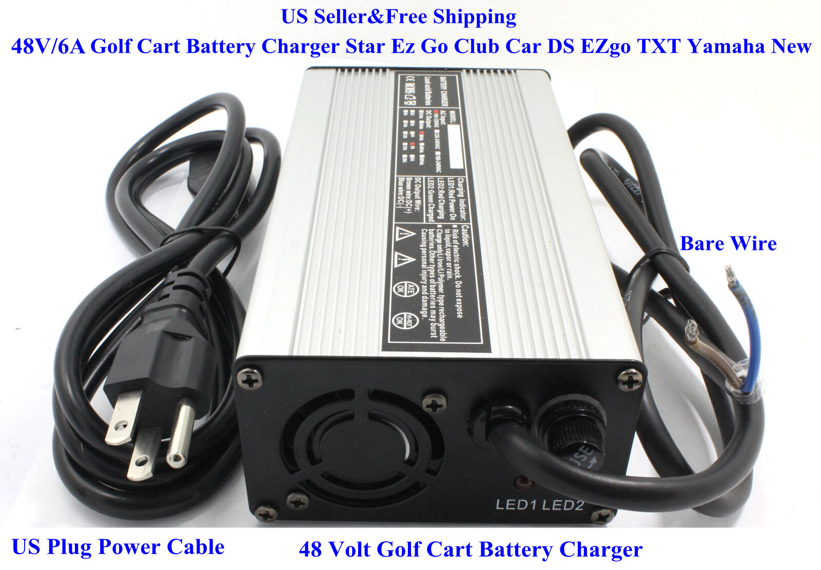 new 48 volt golf cart battery charger 6a star ez go club. Black Bedroom Furniture Sets. Home Design Ideas