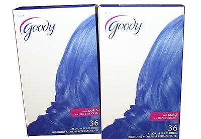 72 Goody Medium Kit Hair Bouncy Loose Curls Curling Perm Rods Rollers NEW
