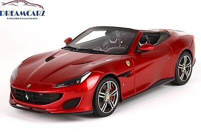BBR 1/18 Ferrari Portofino Spider P18155RF - with Display Case, Limited 49 pcs!