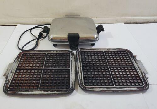 Vintage Westinghouse HW40-2 Chrome Electric Waffle Maker - Read Description