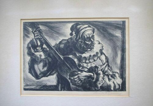 """Umberto Romano """"Pagliacci"""" Signed Original Etching Limited Edition AAA"""