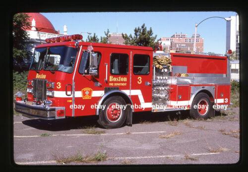 Boston MA E3 1993 Emergency One pumper Fire Apparatus Slide