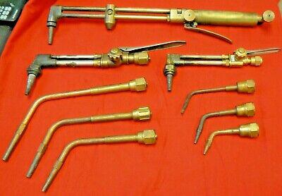 3 Welding Cutting Torches 6 Cutting Torch Tips Victor Ioxygen Purox.