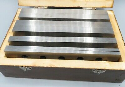 4 Pair Parallel Set 316 12 Wooden Box Machinist Tool