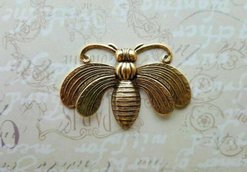 Large Brass Bee Stamping With Raised Wings - 111RAT