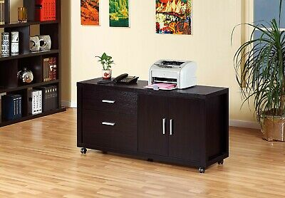 File Cabinet Printer Stand Office Organizer Credenza Finished In Red Cocoa Color