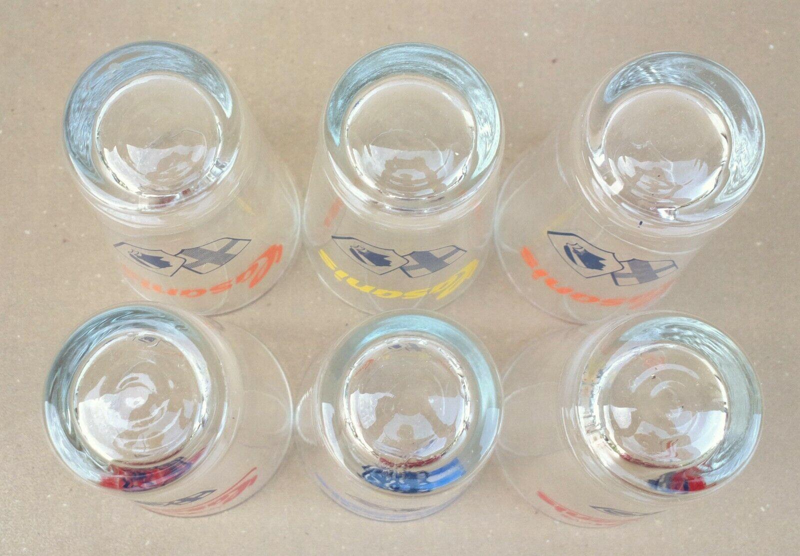 6 verres casanis blason marseille tete de maure seau glaçon pub bistrot anisette