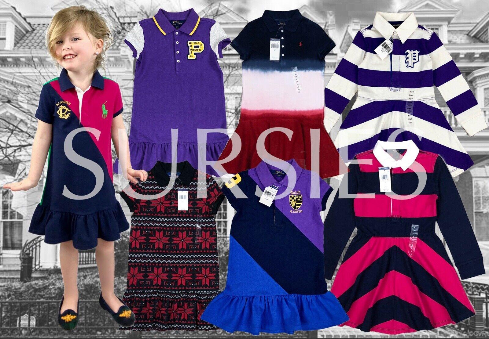 POLO RALPH LAUREN DRESS Girls Polo Dress CREST RUGBY STRIPE