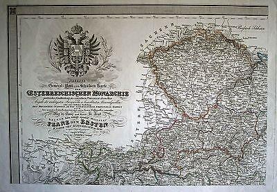 Böhmen / Österreich Landkarte 1829 - Original!