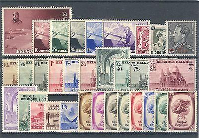 BE - BELGIUM 1938 complete year set MNH