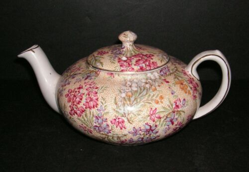 Vintage LORD NELSON Chintz HEATHER Miniature Teapot for Stacking