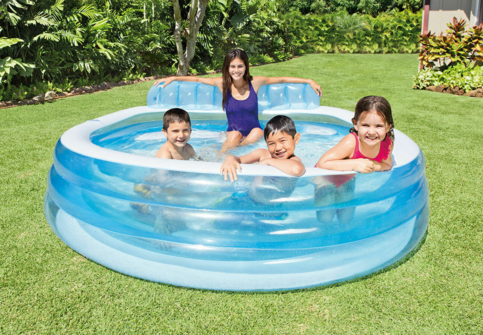 Intex 57190EP Swim Center Inflatable Family Lounge Pool, 88i
