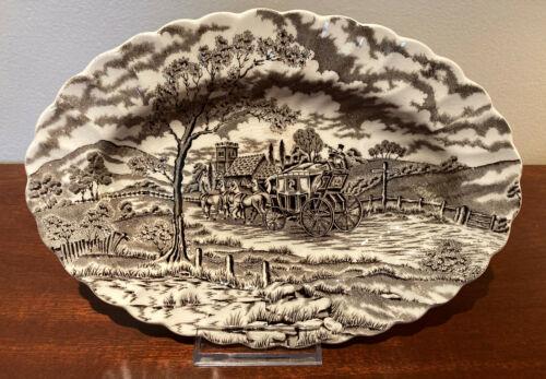 "Royal Mail Oval Coaching Platter 9"" -  Fine Staffordshire Ironstone - England"