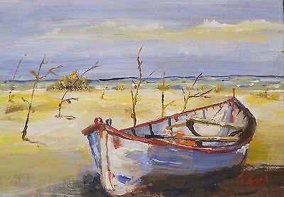 Beached Skiff Outer Banks Art Print Coastal Art Prints Fishing Boat Art Art