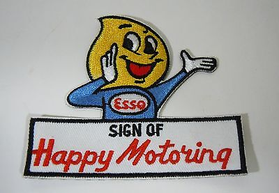 ESSO-Sign of Happy Motoring Embroidered Iron On Uniform-Jacket Patch 3.5""