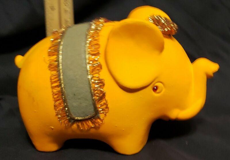 vintage 70s elephant ceramic coin bank