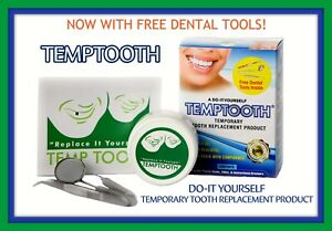 Temporary tooth health beauty ebay temptooth temp tooth replacement kit easy diy temporary tooth free dental tools solutioingenieria Images