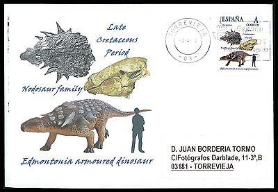 Dinosaurier-custom (SPAIN DINOSAUR DINOSAURE DINOSAURIER - CUSTOM STAMP - ONLY 5 COVER MADE!! cg35)