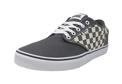 0f779696dd83 VANS Atwood Checkers Gray Natural Canvas Lace Up Sneakers Fashion Men Shoes