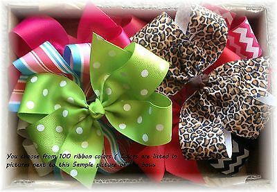 10pcs/lot 6 inch Girl Boutique Large Hair bows Custom to your choice of colors