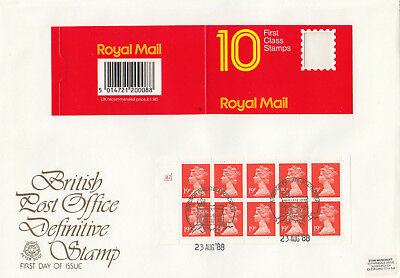 (74230) GB Peter Scot FDC 19p Cylinder Booklet Pane Windsor 23 August 1988