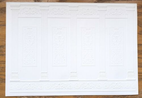 Dollhouse Miniature Wall Panels Embossed Textured Foam Board 1:12 Scale 34936