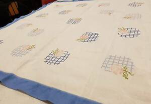 Linen Table Cloth for Quilting - $10.00 Richmond Yarra Area Preview