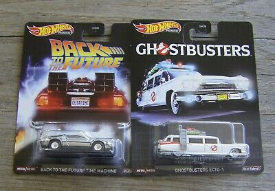 HOT WHEELS PREMIUM ENTERTAINMENT GHOSTBUSTERS ECTO-1 BACK TO THE FUTURE