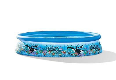 "INTEX 12' x30"" Ocean Reef Easy Set Swimming Pool & Filtration Pump | 54905EG"