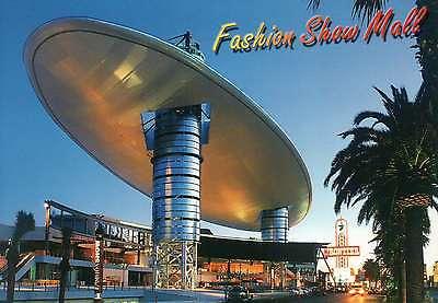 Fashion Show Mall, Las Vegas Strip, Boulevard, Frontier Casino, Roof -- Postcard