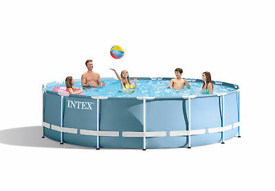 "Intex 15' x 33"" Prism Metal Body Swimming Pool Set with 530 GPH Pump 28721EH"