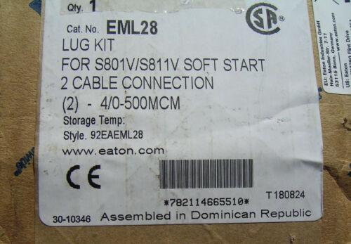 Eaton EML28 lug kit for S801V/S811V Soft Start 2 cable connection 290MM electric