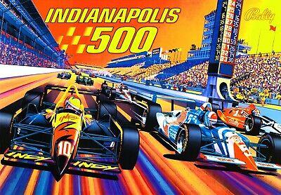 Bally Midway Indianapolis 500 I500 Pinball Machine Translite