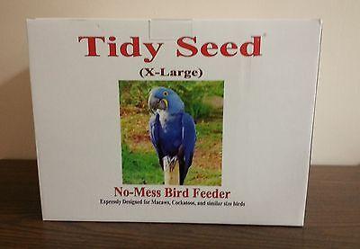 "TIDY SEED X-LARGE BIRD FEEDER - THE ORIGINAL ""NO-MESS"" BIRD FEEDER!"