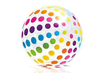 Intex Jumbo Inflatable Glossy Big Polka-Dot Colorful Giant Beach Ball - 59065EP
