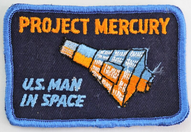 """NASA Patch Project MercuryU.S. Man In SPACE - Cloth Back 4"""" Rare"""