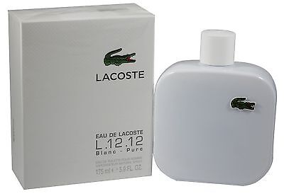 Lacoste L.12.12 Blanc Men 5.9 OZ 175 ML Eau De Toilette Spray Nib Sealed