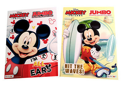 Mickey Mouse & Friends Summer Fun Coloring Book Disney JR Activity Books 2 Pack ()