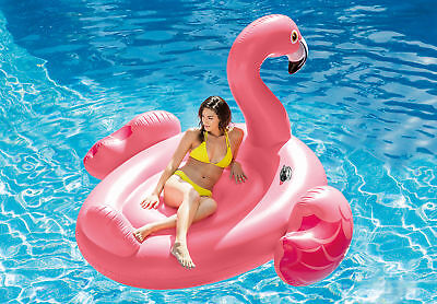 Intex Inflatable Ride On 86 Inch Mega Flamingo Island Pool Float  56288EP