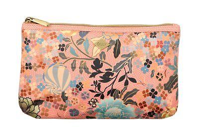 Oilily Ajisai Blossom Flat Pouch Kosmetiktasche Tasche Shell Pink Pink Beige