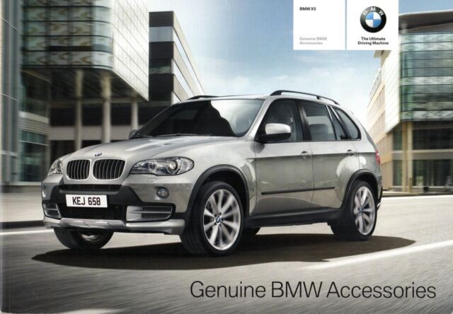 BMW X5 Accessories 2009 10 UK Market Sales Brochure