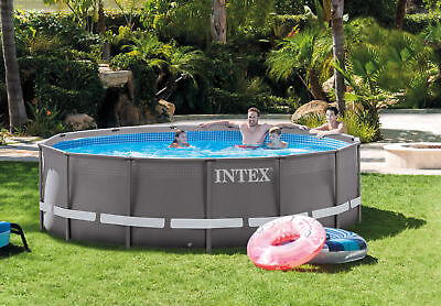 "Intex 14' x 42"" Ultra Frame Above Ground Swimming Pool Set Model 26309EH"
